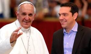 Ψεύτικη η συνάντηση του Τσίπρα με τον Πάπα
